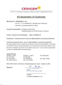 DECLARATION OF CONFORMITY wydane przez Britisch Standard Institute